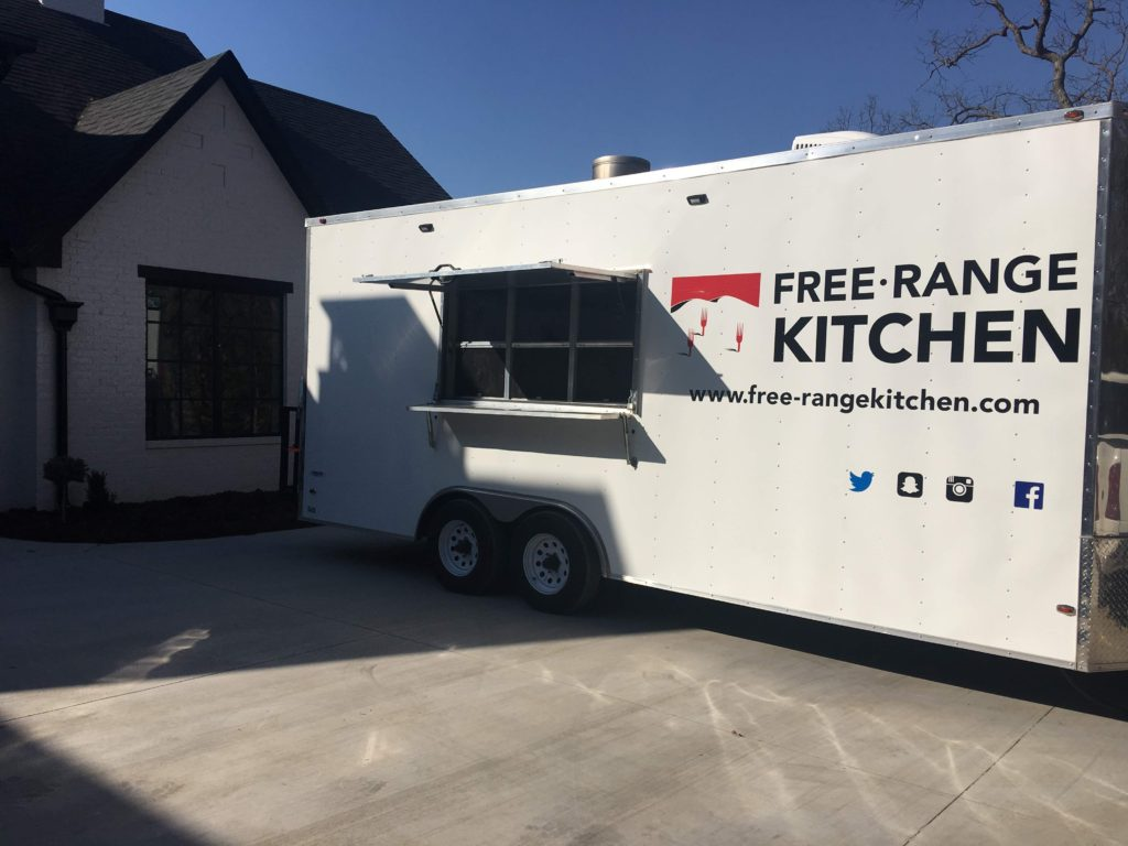 Free-Range mobile kitchen for home party catering